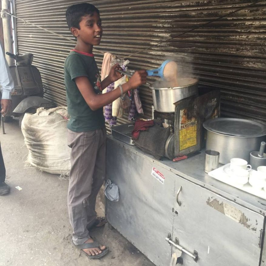 A little chai seller on the street