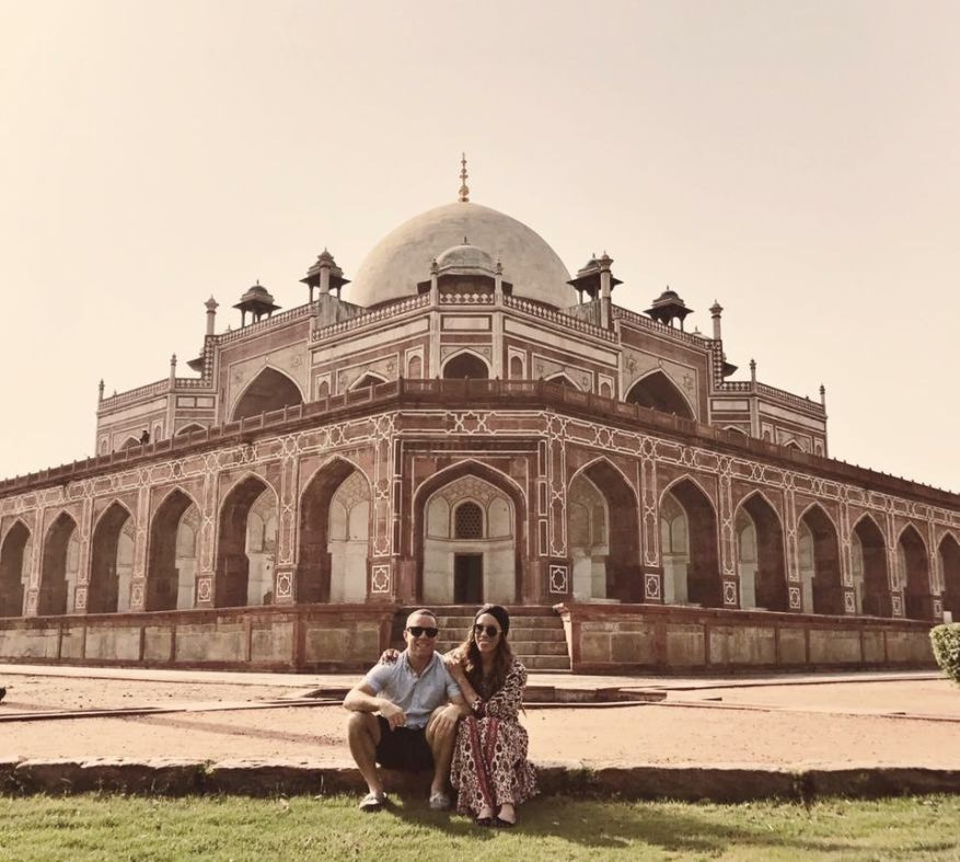 In front of Humayun's Tomb